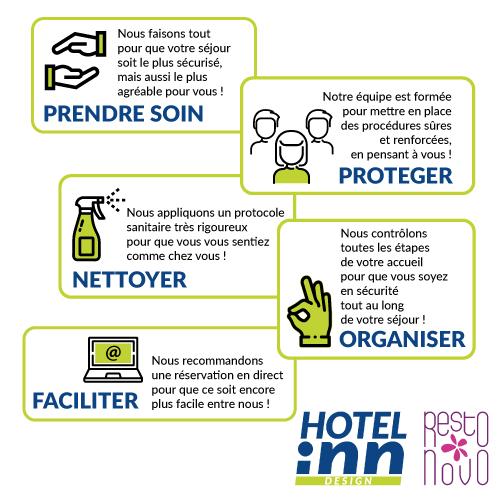 mesures covid hotel inn